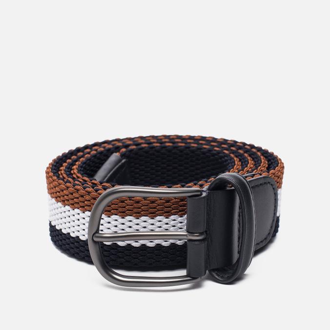 Ремень Anderson's Striped Woven Textile Multicolor Brown/White/Navy