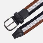 Ремень Anderson's Striped Woven Textile Multicolor Brown/White/Navy фото- 1