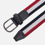 Ремень Anderson's Striped Woven Textile Multicolor Red/White/Navy фото- 1
