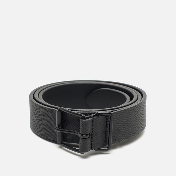 Ремень Anderson's Classic Calf Leather Texture Black/Black