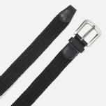 Ремень Barbour Stretch Webbing Leather Black фото- 1