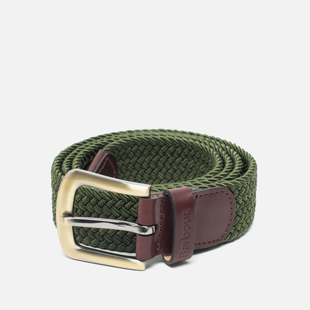 Ремень Barbour Stretch Webbing Leather Khaki