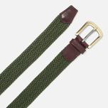 Ремень Barbour Stretch Webbing Leather Khaki фото- 1
