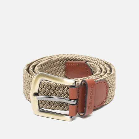 Ремень Barbour Stretch Webbing Leather Light Stone