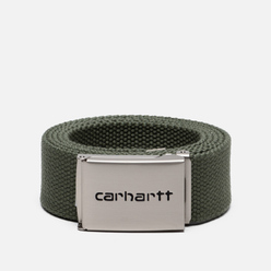 Ремень Carhartt WIP Clip Chrome Dollar Green