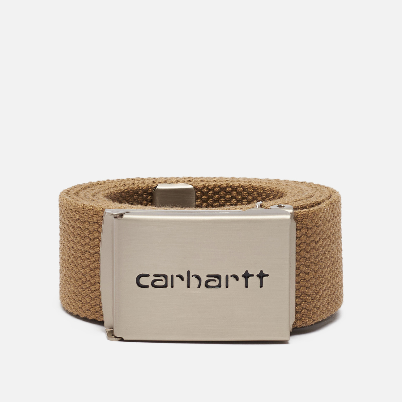 Ремень Carhartt WIP Clip Chrome Leather