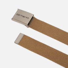 Ремень Carhartt WIP Clip Chrome Leather фото- 1