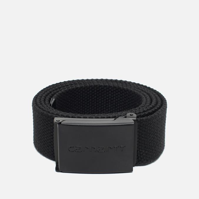 Ремень Carhartt WIP Clip Tonal Black