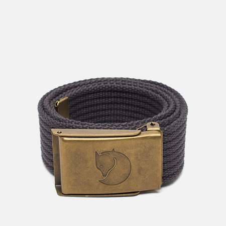 Fjallraven Canvas Brass Children's Belt Dark Grey