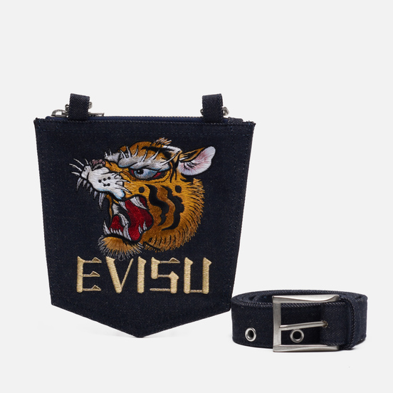 Ремень Evisu Evergreen Denim & Detachable Pocket Indigo