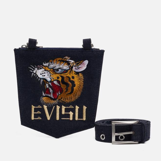 Ремень Evisu Evergreen Denim & Detachable Pocket Indigo