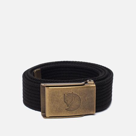 Ремень Fjallraven Canvas Brass 3cm Black