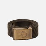 Ремень Fjallraven Canvas Brass 3cm Dark Olive фото- 0