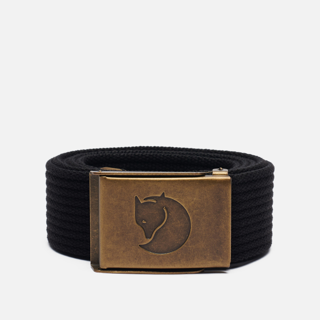 Ремень Fjallraven Canvas Brass 4cm Black