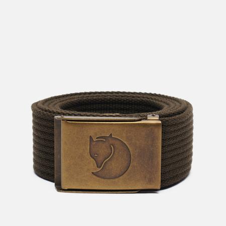 Ремень Fjallraven Canvas Brass 4cm Dark Olive