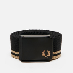 Ремень Fred Perry Tipped Webbing Black/Champagne