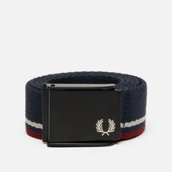 Ремень Fred Perry Tipped Webbing Navy/Port/Ecru