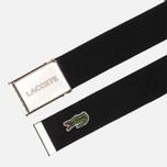Ремень Lacoste Engraved Buckle Woven Black фото- 1