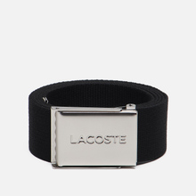 Ремень Lacoste Engraved Buckle Woven Black фото- 0
