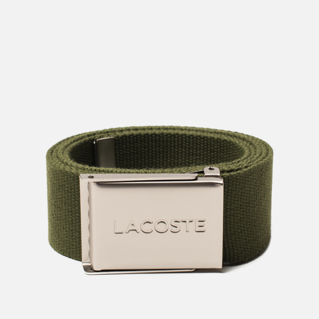Ремень Lacoste Engraved Buckle Woven Marsh