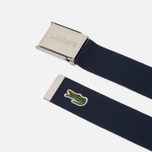 Ремень Lacoste Engraved Buckle Woven Navy Blue фото- 1