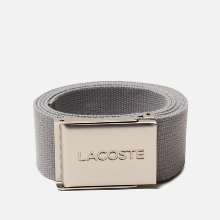 Ремень Lacoste Engraved Buckle Woven Platinum