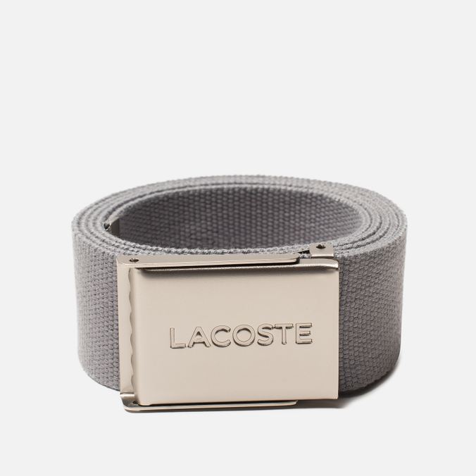 Ремень Lacoste Engraved Buckle Woven Platinum