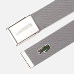 Ремень Lacoste Engraved Buckle Woven Platinum фото- 1
