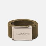 Ремень Lacoste Engraved Buckle Woven Soldier фото- 0