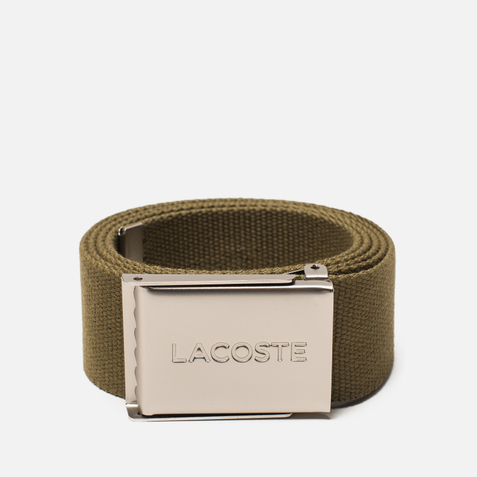 Ремень Lacoste Engraved Buckle Woven Soldier