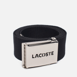 Ремень Lacoste Perforated Plate Black фото- 0