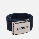 Ремень Lacoste Perforated Plate Navy фото- 0