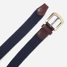 Ремень Barbour Stretch Webbing Leather Navy фото- 1