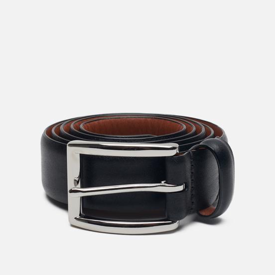 Ремень Polo Ralph Lauren Harness Buckle Smooth Leather Black