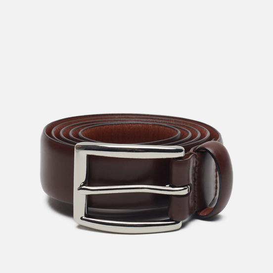 Ремень Polo Ralph Lauren Harness Buckle Smooth Leather Brown