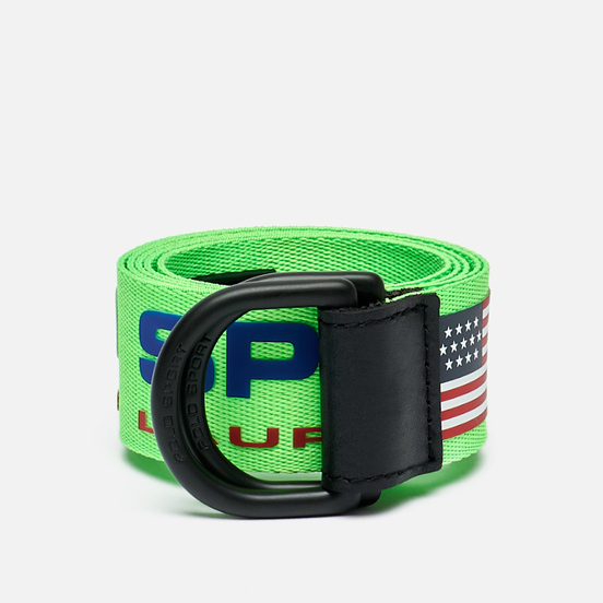 Ремень Polo Ralph Lauren Polo Sport D-Ring Neon Lime