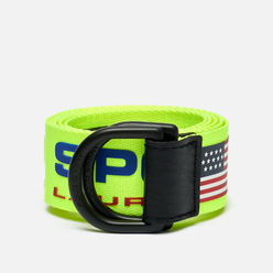 Ремень Polo Ralph Lauren Polo Sport D-Ring Neon Yellow