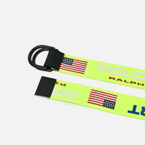 Ремень Polo Ralph Lauren Polo Sport D-Ring Neon Yellow