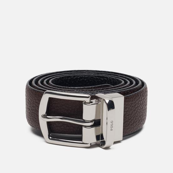Ремень Polo Ralph Lauren Reversible Pebble Leather Dark Brown/Black