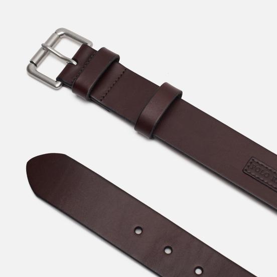 Ремень Polo Ralph Lauren Roller Buckle Smooth Leather Brown