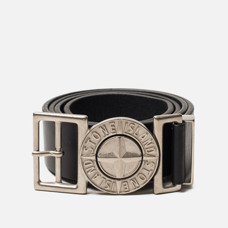 Ремень Stone Island Buckle Compass 7015 Leather Black