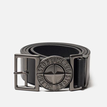 Ремень Stone Island Buckle Compass 7115 Leather Black