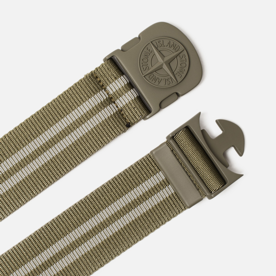 Ремень Stone Island Two-Color Nylon Sage Green
