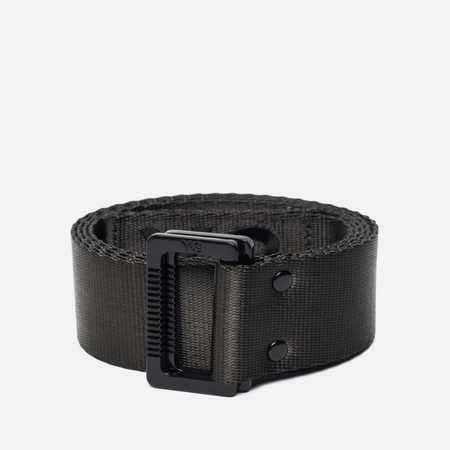 Ремень Y-3 Black Olive Metal Buckle Dark Green