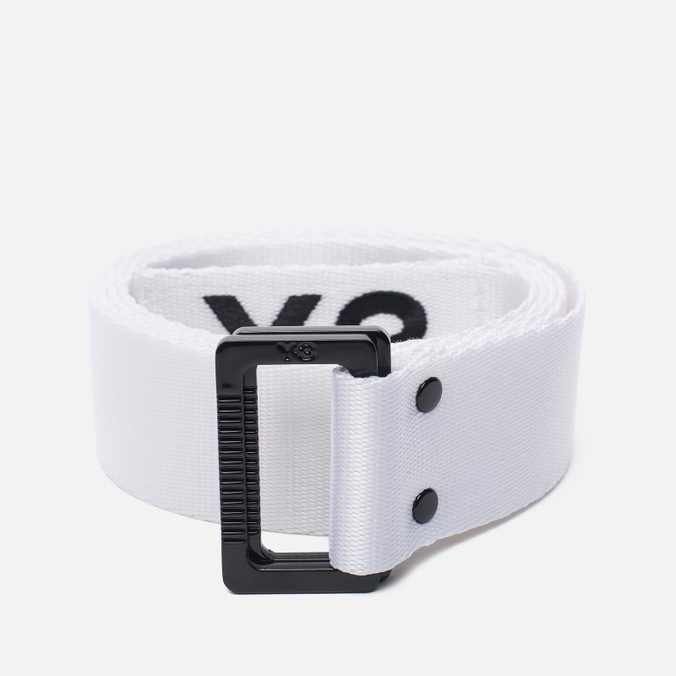 Ремень Y-3 Metal Buckle White