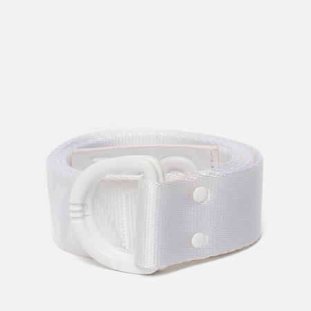 Ремень Y-3 Yohji White Metal Buckle White