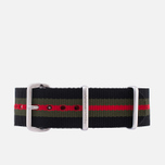Ремешок для часов Briston NG20.GCB Black/Green/Red фото- 0