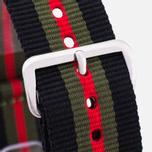 Ремешок для часов Briston NG20.GCB Black/Green/Red фото- 1