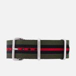 Ремешок для часов Briston NG20.GCV Green/Black/Red фото- 0