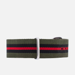 Ремешок для часов Briston NG20.GCV Green/Black/Red фото- 3